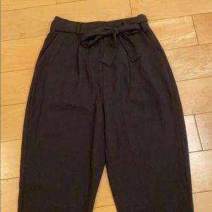 Cuffed Black Work Pants